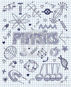 Hand drawn Physics set