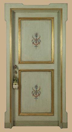 Reproductions of antique italian painted doors - Porte del Passato Lace Painted Furniture, Paint Furniture, Furniture Makeover, Wall Painting Decor, Lace Painting, Porte Design, Door Design, Gold Trim Walls, Shabby