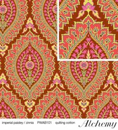 Amy Butler - Alchemy Imperial Paisley/Zinnia Fabric (by the yard) >>> More info could be found at the image url.