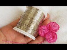 Tele ip sarma ve gül yapraklarını kontur geçme işlemi - YouTube