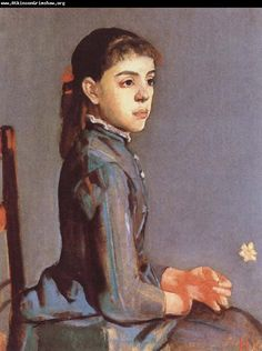 Ferdinand Hodler- Portrait of Louise- Delphine Duchosal