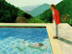 David Hockney • Portrait of an Artist (Pool with Two Figures), 1971
