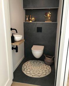 Toilet Room Decor, Small Toilet Room, Wc Design, Toilet Design, Home Room Design, Home Interior Design, Cosy Bathroom, Modern Toilet, Bathroom Design Luxury
