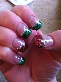 Christmas nails #1 2013
