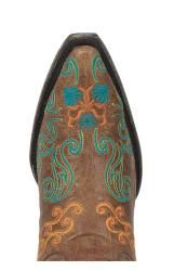 @Overstock - Hand-crafted from distressed leather, these cowboy boots from Lane Boots feature intricate embroidery. With pointed toes and a comfortable padded footbed, these boots are finished with a scratched turquoise outsole.http://www.overstock.com/Clothing-Shoes/Lane-Boots-Brown-Old-Mexico-Cowboy-Boots/6322188/product.html?CID=214117 $379.99
