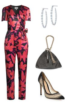 Birthday Party Outfits, Identity, Jumpsuit, Female, Digital, Bag, Link, Earrings, Shopping