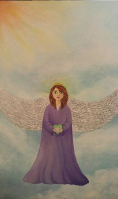 #angel #acrylicpainting #customartwork #artbymelissaclarke