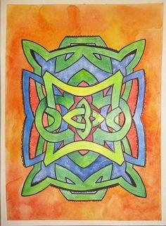 Celtic Watercolors/colored pencil