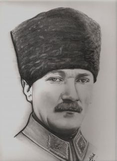 Karakalem Portre Resimler,Atatürk Çizimi