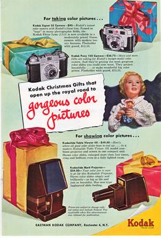 Kodak cameras.....cool vintage ad....1951 National by route44west, $9.99