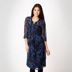 blue floral shirt dress- at Debenhams.ie