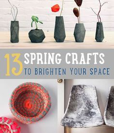 13 Spring Craft Projects | Do It Yourself Projects to Brighten Your Space & Other Easy DIY Project Ideas By DIY Ready. http://diyready.com/13-spring-craft-projects-do-it-yourself-projects/