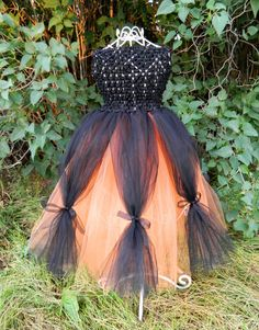 black orange halloween tutu dress 3t 5t by kimberlykscreations 2700 im - Halloween Tutu Dress