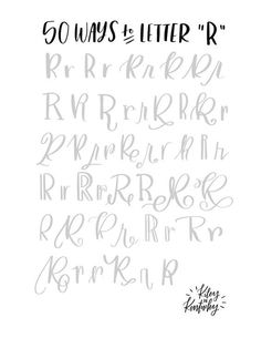 "50 ways to letter ""R"""