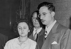 April, 5, 1951 the Rosenburgs are sentenced to death.  The climax of the most sensational spy trial in American came when a federal judge sentences Julius and Ethel Rosenberg to death for their role in passing atomic secrets to the Soviets. The couple proclaimed their innocence, they died in the electric chair in June 1953.  The Rosenbergs were convicted of playing a central role in a spy ring that passed secret data about the atomic bomb to the Soviet Union during and after World War II.