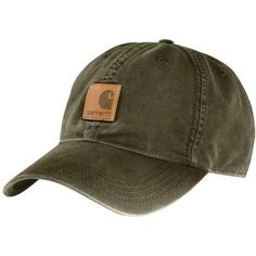 The Carhartt Men's Odessa Cap is made of cotton duck and features a hook-and-loop back closure.