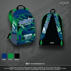 b5fc7b83e48e Check out this NEW custom made backpack for Infinity Cheer and Tumbling!!  These backpacks