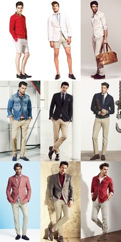 Men's Nude Tone Trousers, Chinos & Shorts - Spring/Summer 2014 Outfit Inspiration Lookbook