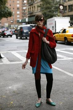 How to wear a scarf without looking like a bag lady (nothing against bag ladies).
