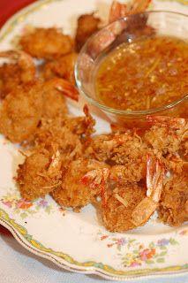 Cocunut Shrimp with Orange dipping sauce http://asianrecipes.healthandfitnessjournals.com