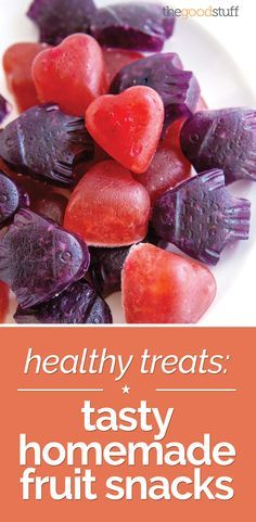 Looking for a healthy alternative to your usual afternoon treat? Try these taste homemade fruit snacks!