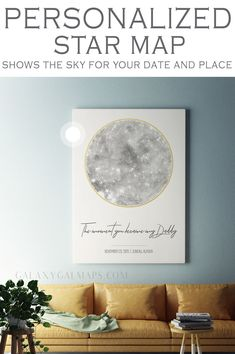 UNIQUE star maps for any occasion by GalaxyGalGifts Constellation Art, Constellations, Star Chart, Family Birthdays, Nursery Signs, Sky Art, Best Birthday Gifts, Star Sky, Sign Printing