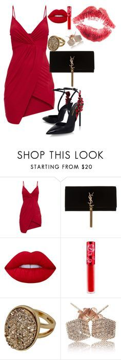 """""""Untitled #641"""" by dreamer3108 on Polyvore featuring Yves Saint Laurent and Lime Crime"""