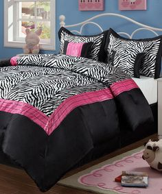 Take a look at this Pink Sassy Zebra Comforter Set by Vivid Dreams: Animal-Print Textiles on @zulily today!