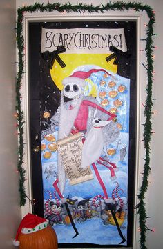 nightmare before christmas door decorations - Google Search