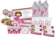 Kit Imprimoble Hadita/invitaciones/bautizo/baby Shower