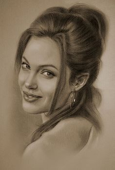 Angelina Jolie….Pencil art by Dumage