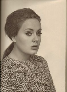Adele is gorgeous. She is my ro-model.