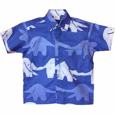 Fair Trade Boys Blue Elephant button down shirt – Wild Dill