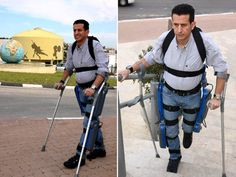 ReWalk Robotic Exoskeleton Gives Paraplegics the Ability to Walk!  Amit Goffer, the founder of Argo Medical Technologies, recently unveiled a revolutionary exoskeleton that enables paraplegics to stand, walk, and even climb stairs. The bionic device, called ReWalk, is a RoboCop-style suit outfitted with sensors and servos that utilize simple body movements to produce life-changing results.