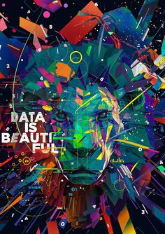 "Digital illustration for the Adobe ""Creative Data Awards — Data is beautiful"" advertising at the 2015 Cannes Lions festival. Commissioned by Goodby, Silverstein & Partners."