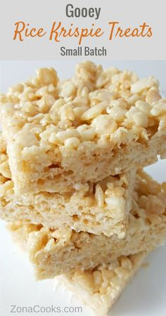 Gooey Rice Krispie Treat Recipe - Small Batch - These are the best Rice Krispie Treats in the world! This small batch recipe is ooey gooey deliciousness, easy to make, and just the right amount for two to four people!