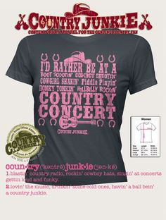 I'd Rather Be At A Country Concert T Shirt