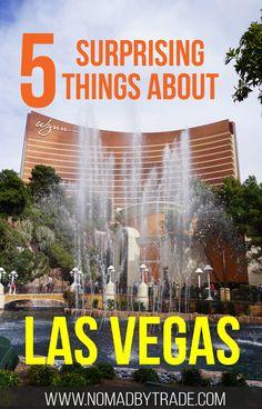 Five surprising things about the Strip in Las Vegas, Nevada | #LasVegas | #Vegas | #Nevada | Casinos