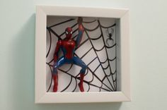 The Amazing Spiderman Original 3D Shadowbox Art 6x6 by DUDEORAMA, $30.00