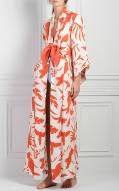 M'O Exclusive Miramar Printed Kimono by Johanna Ortiz Older Women Fashion, Womens Fashion, Look Fashion, Fashion Design, Fashion Trends, Steampunk Fashion, Gothic Fashion, New Mode, Mode Kimono