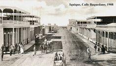 Iquique, calle Baquedano, 1908. Chile
