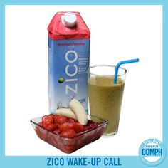 ½ Cup Chilled Strawberry Banana ZICO Premium Coconut Water½ Cup IceHandful of Spinach&fr… Zico Coconut Water, Coconut Water Drinks, Coconut Water Recipes, Healthy Smoothies, Healthy Drinks, Smoothie Recipes, Healthy Eats, Strawberry Smoothie, Strawberry Banana