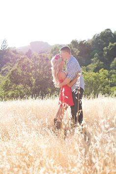 Country rustic engagement pictures