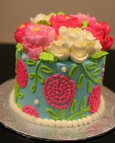 buttercream pop flower cake - Google Search
