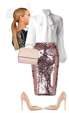 Morning Manna!!!! #iloveaim by cogic-fashion on Polyvore featuring Dondup, Topshop, Christian Louboutin and Givenchy