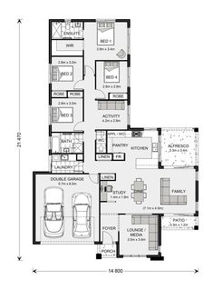 Gardner Homes make building your new home stress free. Browse home designs online or speak to one of our friendly builders today! Custom Home Designs, Custom Home Builders, Custom Homes, Home Design Floor Plans, House Floor Plans, Plan Design, Design Ideas, House Construction Plan, Model House Plan