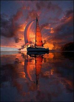 """""""I think this is the most beautiful sunset photo I have ever seen, and I've … """"Ich denke, dies ist das schönste Sonnenuntergangsfoto, das ich je gesehen habe, und ich habe viel gesehen! Amazing Sunsets, Amazing Nature, Fine Art Photo, Photo Art, Nature Pictures, Cool Pictures, Landscape Photography, Nature Photography, Peter Lik Photography"""