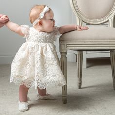 Baby Girl Silk & Lace Christening Dress & Bonnet Set — 'Poppy' Blessing Dress – Size Months Only Baby Girl Dresses, Girl Outfits, Flower Girl Dresses, Baby Wedding Outfit Girl, Baby Girls, Dress Wedding, Baby Baby, Baby Blessing Dress, Baptism Dress Baby