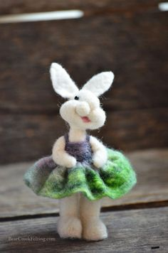 Bear Creek Bunny #302 needle felted by Teresa Perleberg February 2016