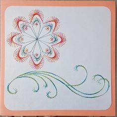 Geburtstag - Fadengrafik Grußkarten Set 080 Deco-Flower - ein Designerstück von Bastelfan1809 bei DaWanda